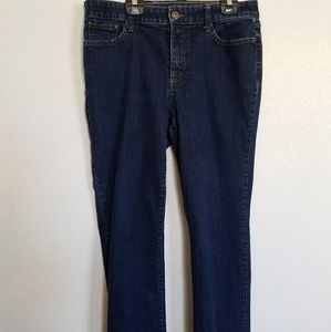 saint John's bay blue jeans size 12 straight leg